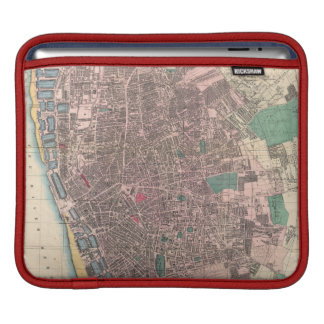 Vintage Map of Liverpool England (1890) Sleeve For iPads