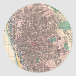 Vintage Map of Liverpool England (1890) Sticker