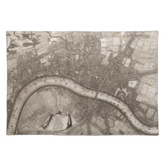Vintage Map of London (1693) Cloth Place Mat