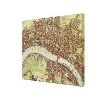 Vintage Map of London (17th Century) Canvas Print