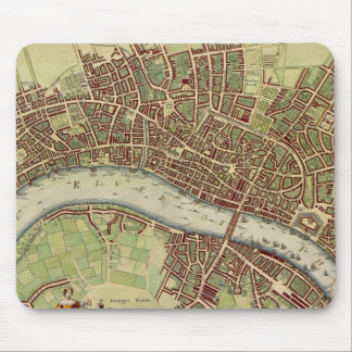 Vintage Map of London (17th Century) Mouse Pad