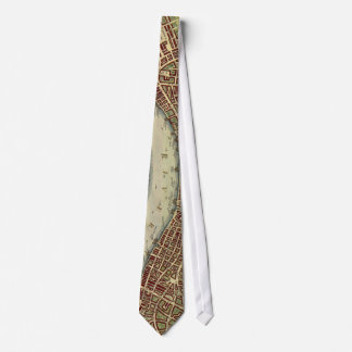 Vintage Map of London (17th Century) Neck Tie