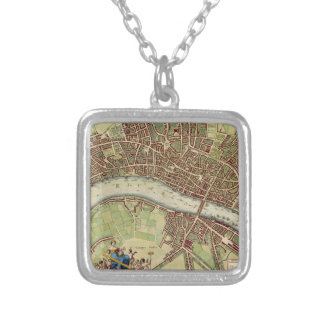 Vintage Map of London (17th Century) Pendants