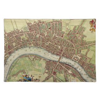 Vintage Map of London (17th Century) Placemat