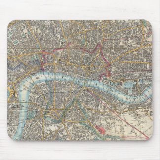 Vintage Map of London (1848) Mouse Pad