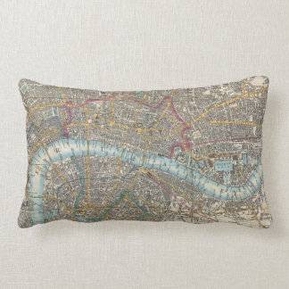 Vintage Map of London (1848) Pillows