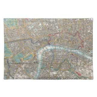 Vintage Map of London (1848) Placemat