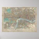 Vintage Map of London (1848) Print