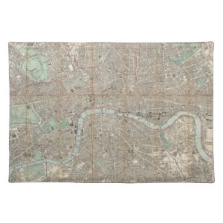 Vintage Map of London (1890) Cloth Placemat