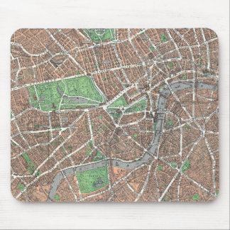 Vintage Map of London (1923) Mouse Pad