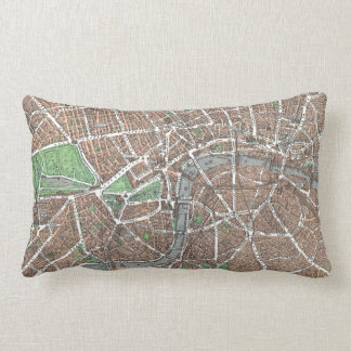 Vintage Map of London (1923) Throw Pillows