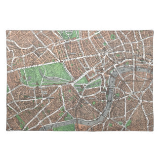 Vintage Map of London (1923) Placemat