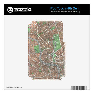 Vintage Map of London (1923) Skin For iPod Touch 4G