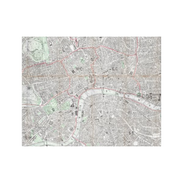 Vintage map of London city Canvas Print