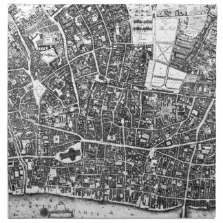 Vintage Map of London England (1677) Cloth Napkin