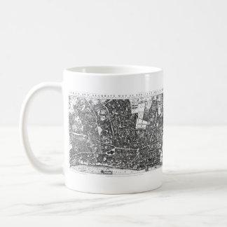 Vintage Map of London England (1677) Coffee Mug
