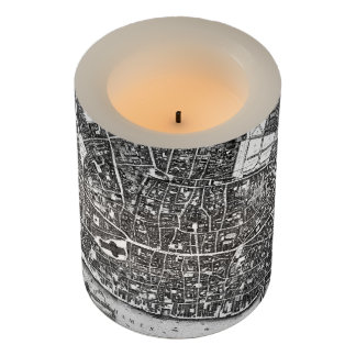Vintage Map of London England (1677) Flameless Candle
