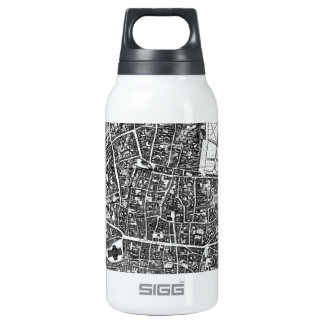 Vintage Map of London England (1677) Insulated Water Bottle
