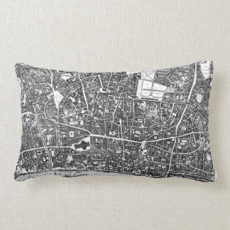 Vintage Map of London England (1677) Throw Pillow