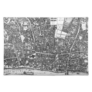 Vintage Map of London England (1677) Placemat