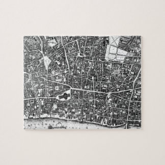 Vintage Map of London England (1677) Puzzle