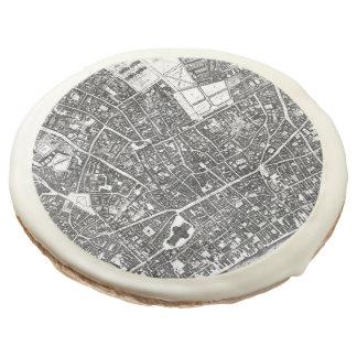 Vintage Map of London England (1677) Sugar Cookie