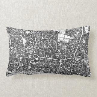 Vintage Map of London England (1677) Throw Pillow