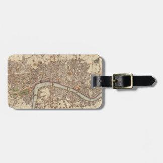 Vintage Map of London England (1807) Bag Tag