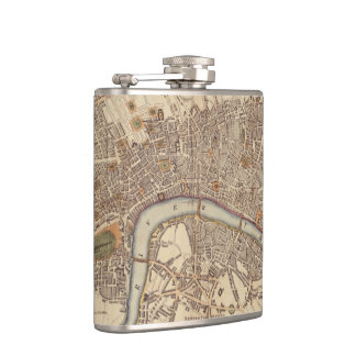 Vintage Map of London England (1807) Flask