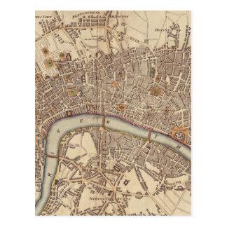 Vintage Map of London England (1807) Postcard