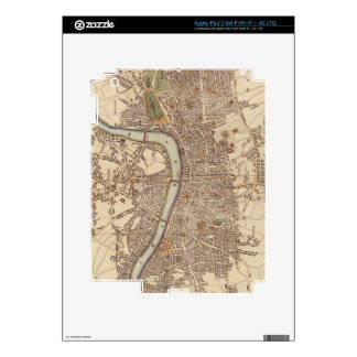 Vintage Map of London England (1807) Decals For iPad 3