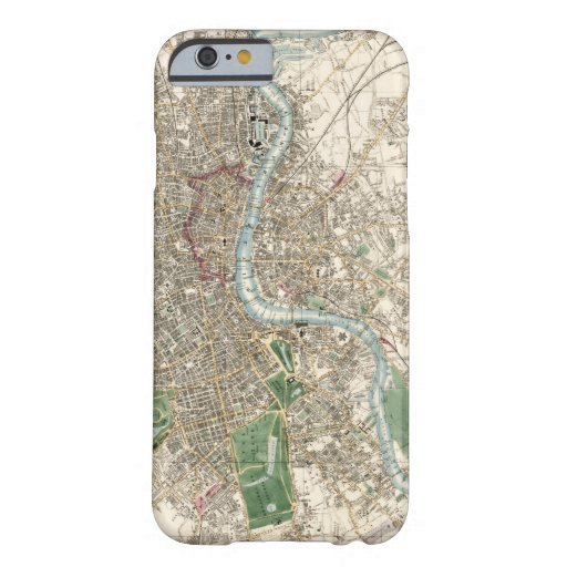 Vintage Map of London England (1853) Barely There iPhone 6 Case