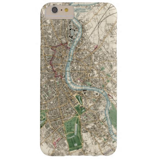 Vintage Map of London England (1853) Barely There iPhone 6 Plus Case