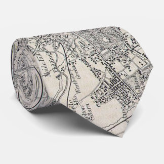 Vintage Map of London England (1855) Neck Tie