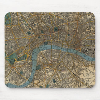 Vintage Map of London England (1860) Mouse Pad
