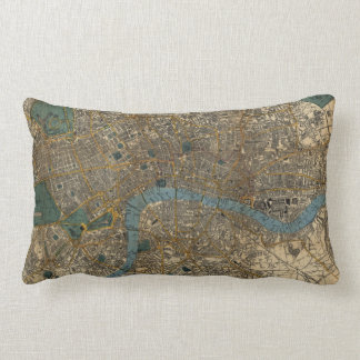 Vintage Map of London England (1860) Pillow