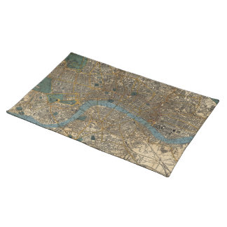 Vintage Map of London England (1860) Placemat