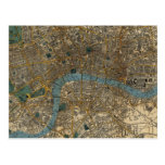 Vintage Map of London England (1860) Post Card