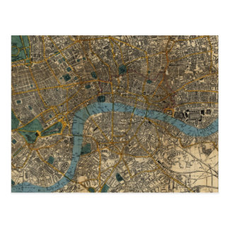 Vintage Map of London England (1860) Postcard