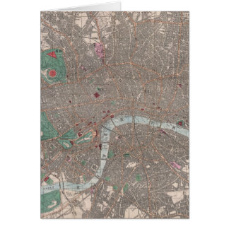 Vintage Map of London England (1862) Card