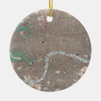 Vintage Map of London England (1862) Ceramic Ornament