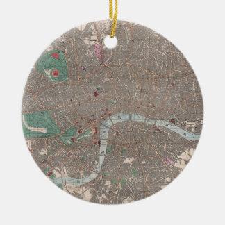 Vintage Map of London England (1862) Ceramic Ornament