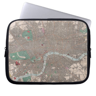 Vintage Map of London England (1862) Computer Sleeve