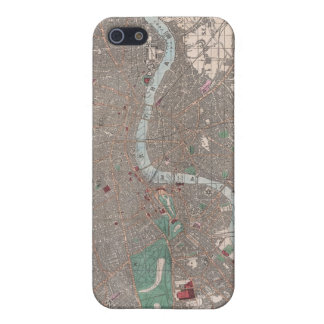 Vintage Map of London England (1862) iPhone SE/5/5s Case