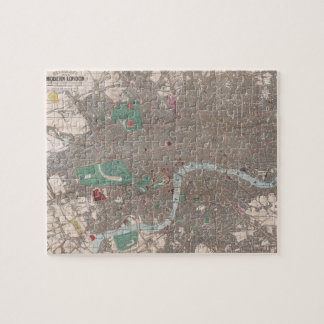 Vintage Map of London England (1862) Jigsaw Puzzle