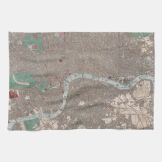 Vintage Map of London England (1862) Kitchen Towel