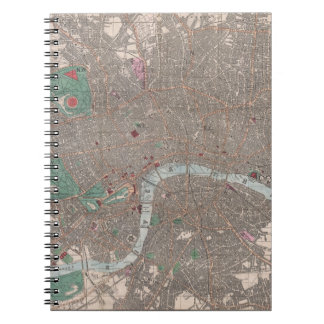 Vintage Map of London England (1862) Notebook