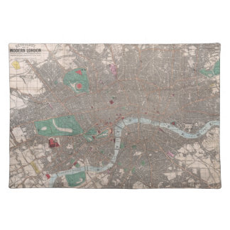 Vintage Map of London England (1862) Placemat