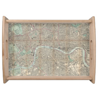 Vintage Map of London England (1862) Serving Tray