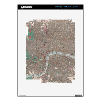 Vintage Map of London England (1862) Skins For iPad 3